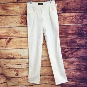 NWT Fendi Off White High Waisted Slim Leg Jeans